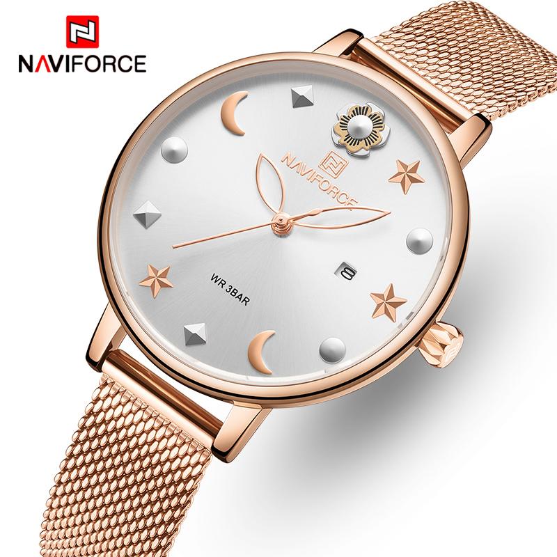 naviforce ženski sat s jednostavnim brojčanikom