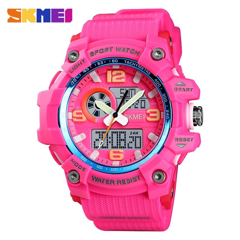 skmei ženski sportski sat u rozoj boji