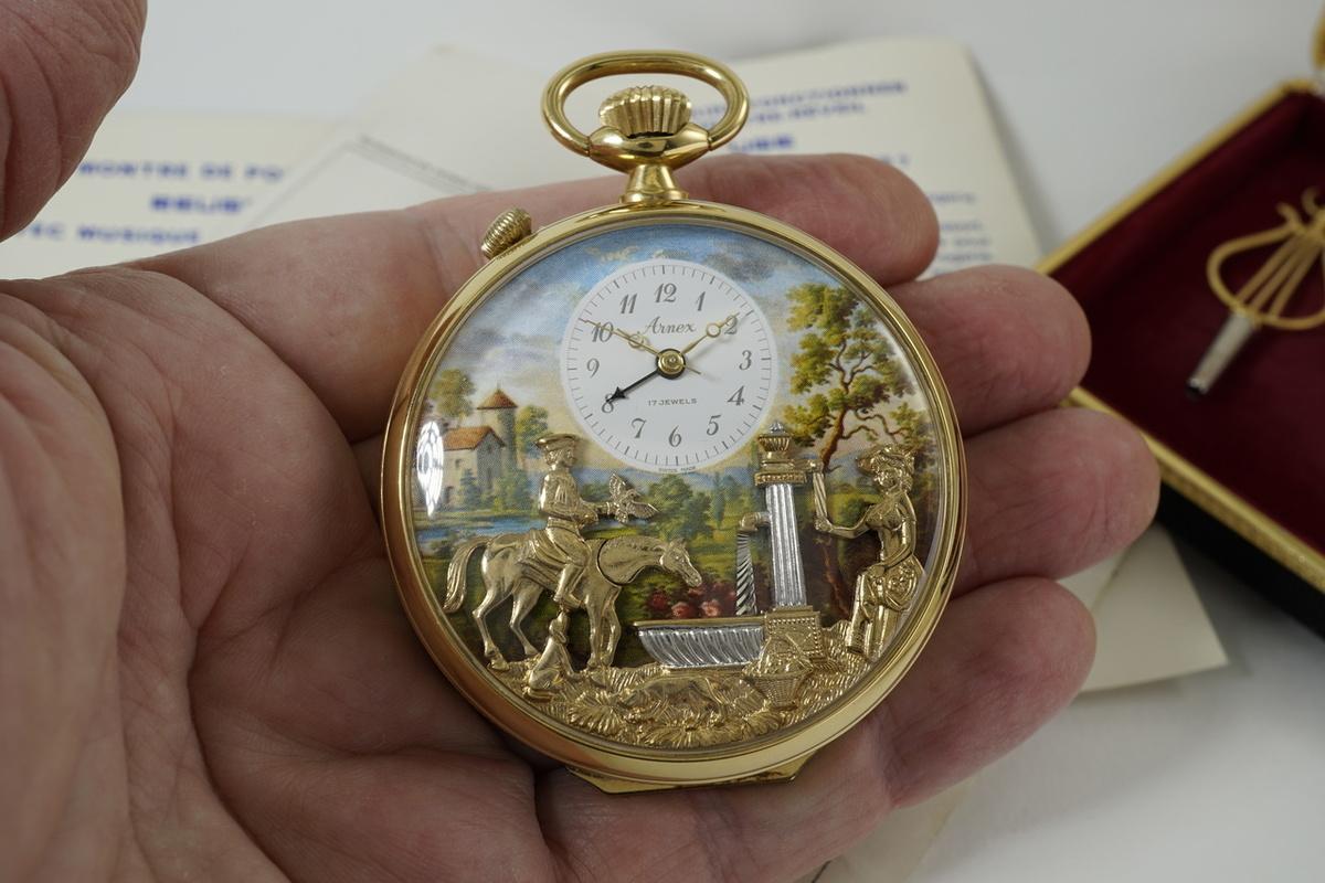 mehanički muški sat, džepni