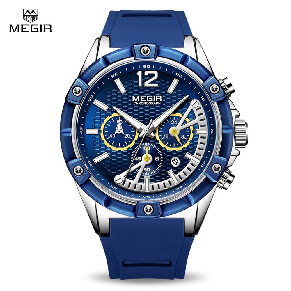 megir muški sat plavi s plavim remenom