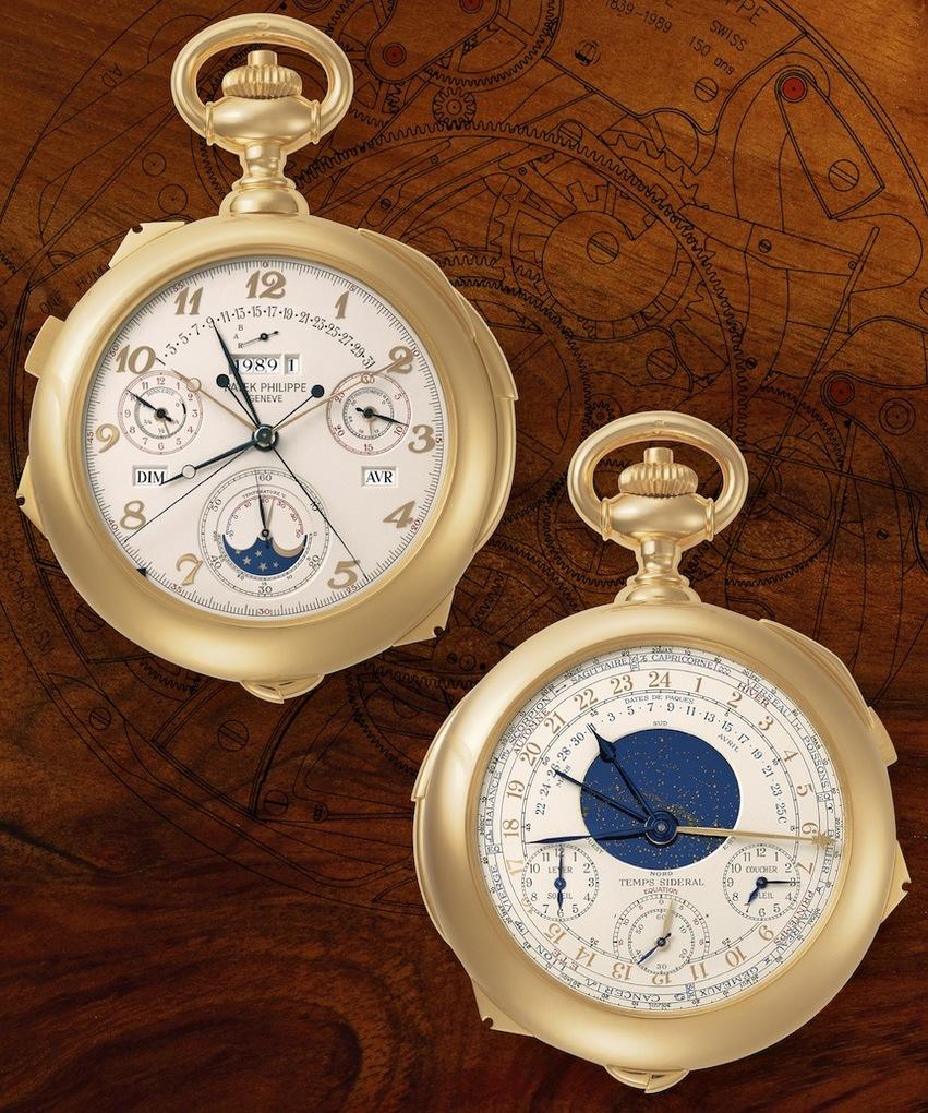 patek zlatni džepni sat