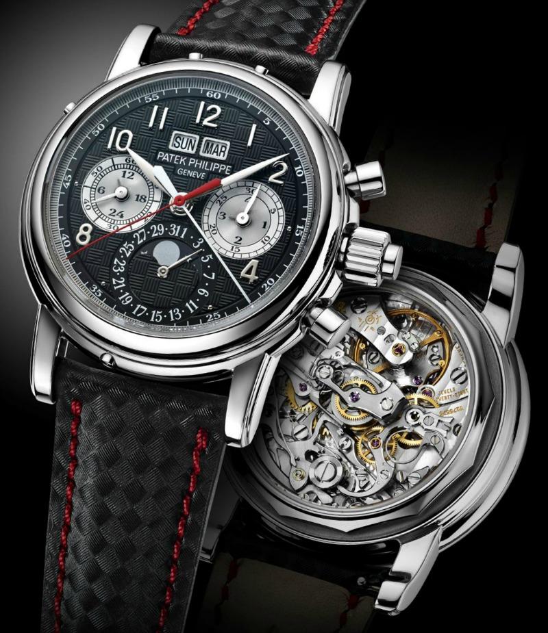 patek pazi na detalje pa je tako remen ovog sata ručno graviran u romboidnom uzorku