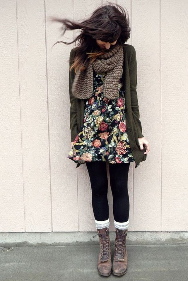 kako nositi haljinu zimi