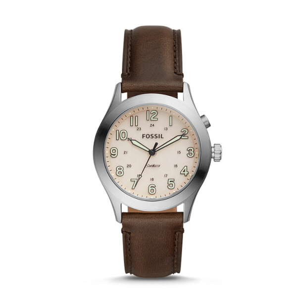 Fossil The Archival Series Starmaster Three-Hand Brown Leather Watch