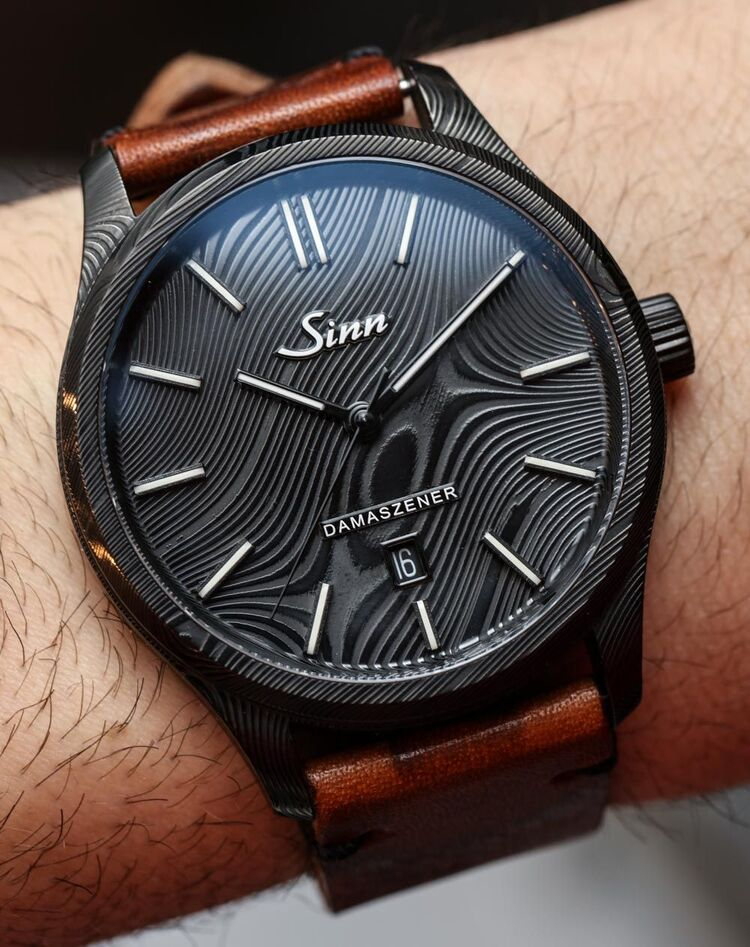 Sinn 1800 S Damaszener Watch With Damascus Steel Case Hands-On